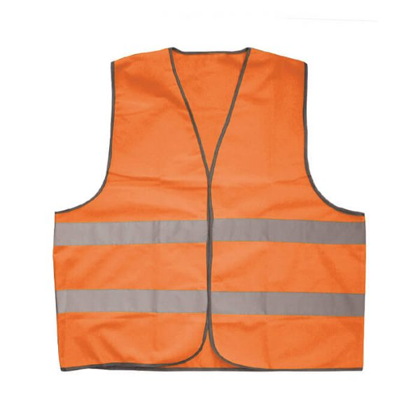 Colete alta visibilidade laranja